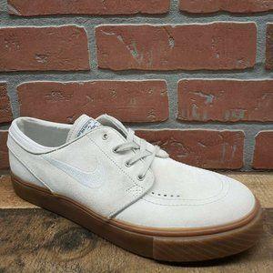 Nike SB Janoski Light Bone & Gum Suede Skate Shoes